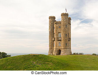 Folly known as Broadway Tower in Cotswolds of England