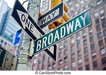 broadway, york, nowy