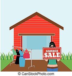 garage vente jardin copie vente jardin famille espace illustration de stock rechercher. Black Bedroom Furniture Sets. Home Design Ideas