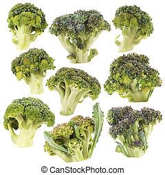 broccoli., út, darabka, elszigetelt
