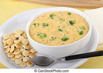 Broccoli and Chedar Soup - Creamy broccoli and chedar cheese...