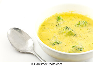 Broccoli and Cheddar Cheese Soup - Creamy broccoli and...