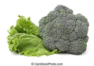 Broccoli and lettuce