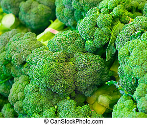 Broccoli - Close-up of raw broccoli in bunches
