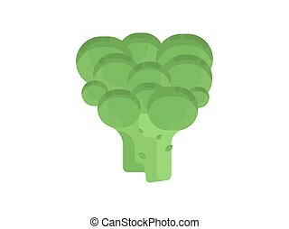 Broccoli. Flat illustration of broccoli vector icon isolated...