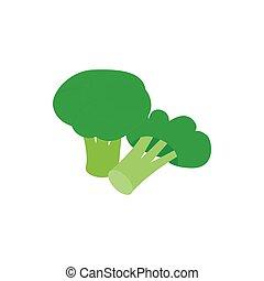 Broccoli icon, isometric 3d style