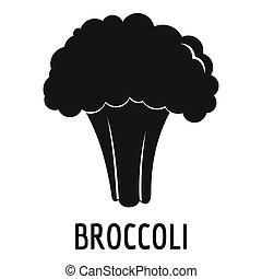 Broccoli icon, simple style.
