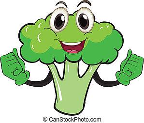 Broccoli - Illustration of a cartoon broccoli