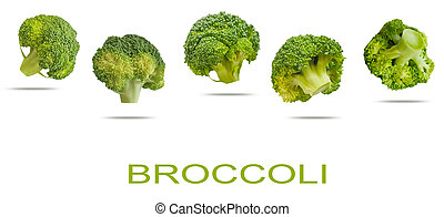 broccoli isolated on a white background