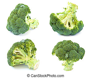 Broccoli, isolated on a white background.