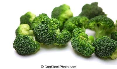 Broccoli isolated on white background - fresh Broccoli salad...