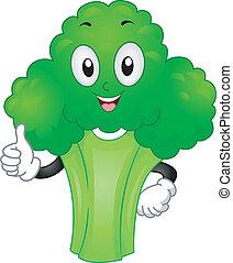 Broccoli Mascot - Mascot Illustration Featuring a Broccoli...