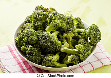 Broccoli - photo of delicious fresh green broccoli inside a...