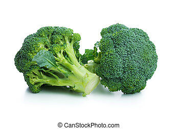 Broccoli - Fresh broccoli cabbage isolated on white...