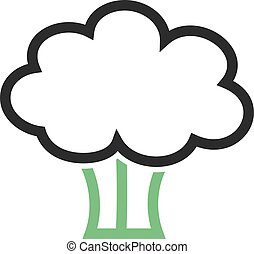 Broccoli, spinach, food icon vector image. Can also be used...