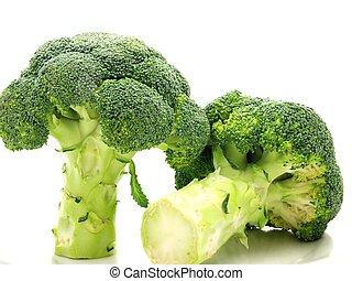 Broccoli towards white background