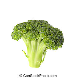 Broccoli vegetable isolated on white - Broccoli vegetable...