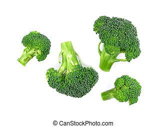 Broccoli vegetable on white background