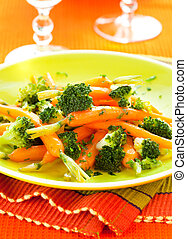 broccoli, wortels