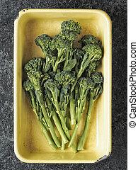 broccolini, bandeja