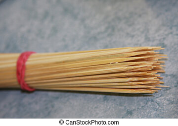 brocheta, madera