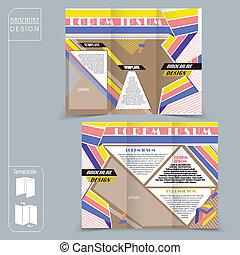 brochu, 概念, ビジネス, 現代, tri-fold, 広告, テンプレート