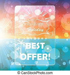 brochure, été, fond