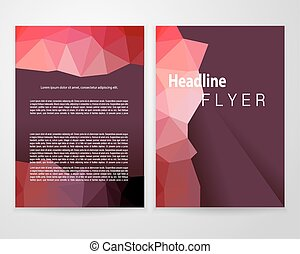Brochure a4 white crop - Abstract red triangle brochure...