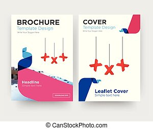 brochure, aviateur, xxx, conception, gabarit