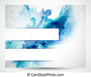 background - Brochure background with Abstract blue elements