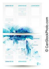 Brochure background with Abstract blue elements