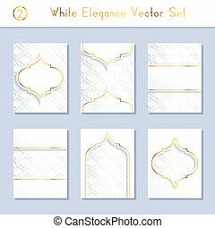 brochure, blanc, ensemble, conceptions