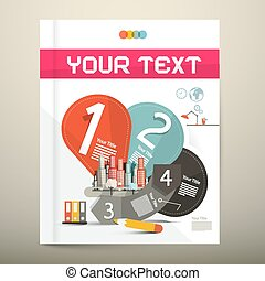 Brochure - Book Vector Infographics Layout - Template