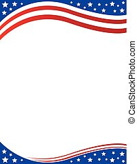 Brochure Border patriotic