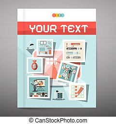 Brochure - Business Book Vector Cover Design