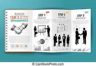brochure, business, infographics