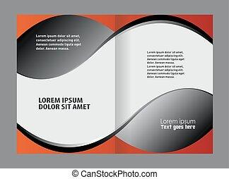 brochure, catalogue, conception, ou, gabarit