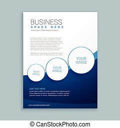brochure, compagnie, conception, page, business
