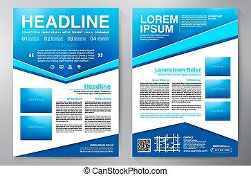 brochure, conception, a4, template.