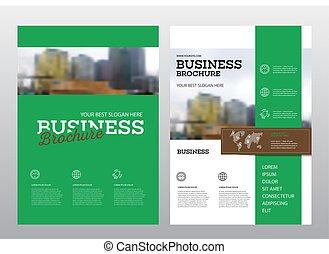 brochure, conception, couverture