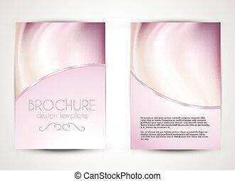 brochure, conception