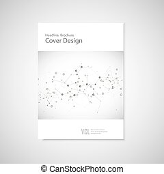 Brochure cover template for connect, network, healthcare, science and technology