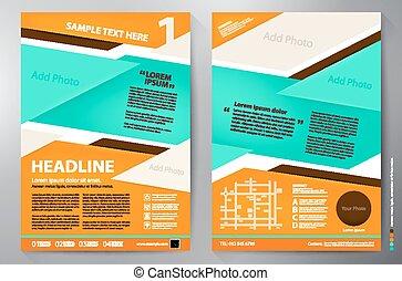 Brochure design a4 vector template. - Brochure design a4...