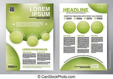 Brochure design a4 vector template - Brochure design a4...