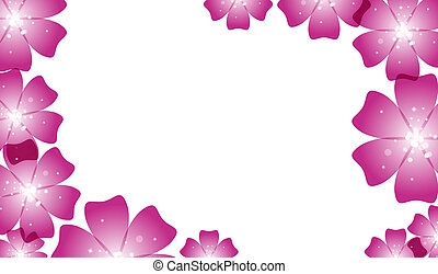 Brochure design,  abstract background with beautiful colored flower pattern