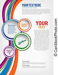 Brochure Design - Colorful background with wave - brochure...