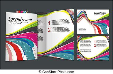 brochure design for night club, vector illustartion.