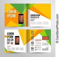 brochure design - Vector design brochure template with...