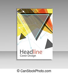 Brochure design triangle template vector