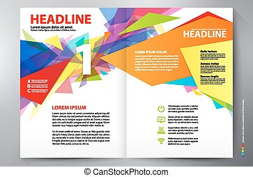 Brochure design two pages a4 vector template - Brochure...